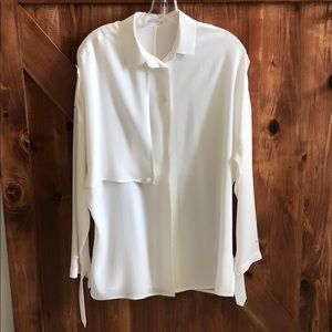 NWNT Equipment 💯 silk tunic blouse SP cream white